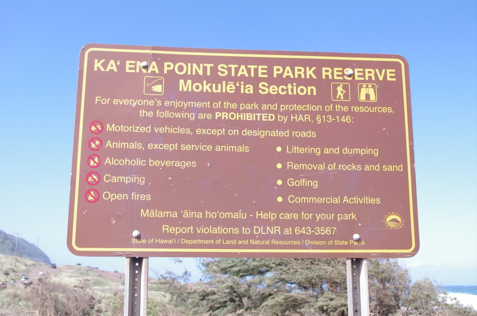 Ka'ena Point State Park   Mark Shoberg: The Dumb Tourist