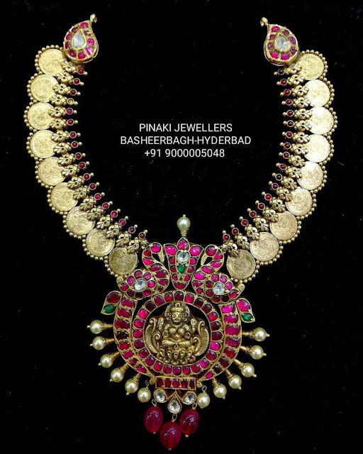 Peacock and Kasu Haram by Pinaki Jewellers