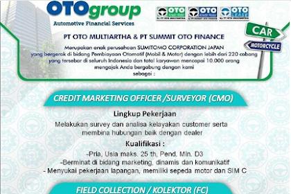 Lowongan Kerja di PT Oto Multiartha & PT Summit Oto Finance
