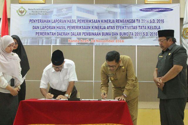 Aceh Tengah Terima LHP Kinerja dari BPK RI Perwakilan Aceh