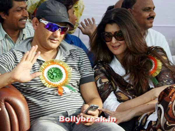 "Mohammed Azharuddin and Sangeeta Bijlani:  He's a star  batsman who captained the Indian team till his alleged involvement in  match-fixing scandals; she's an erstwhile Miss India and film actress  who was once called a ""home breaker"" for having an affair with the  much-married cricketer. However, after he divorced his first wife, the  two got married.