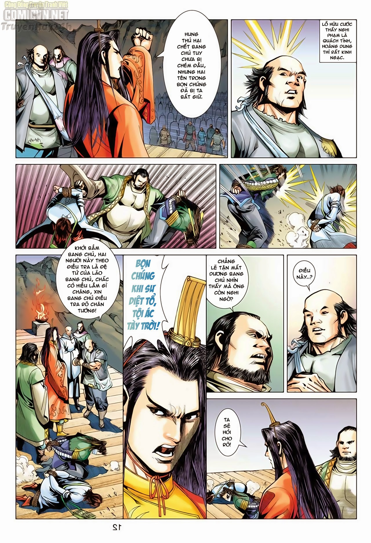 Anh Hùng Xạ Điêu anh hùng xạ đêu chap 66: nhạc châu đại hội trang 12