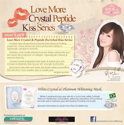 love more white crystal platinium peptide whitening mask