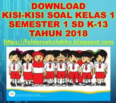 KISI-KISI SOAL KELAS 1 SEMESTER 1 SD K-13 TAHUN 2018, https://foldersekolahku.blogspot.com