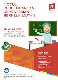 Download Modul Guru Pembelajar PKB 2017 Guru SD Kelas Bawah awal
