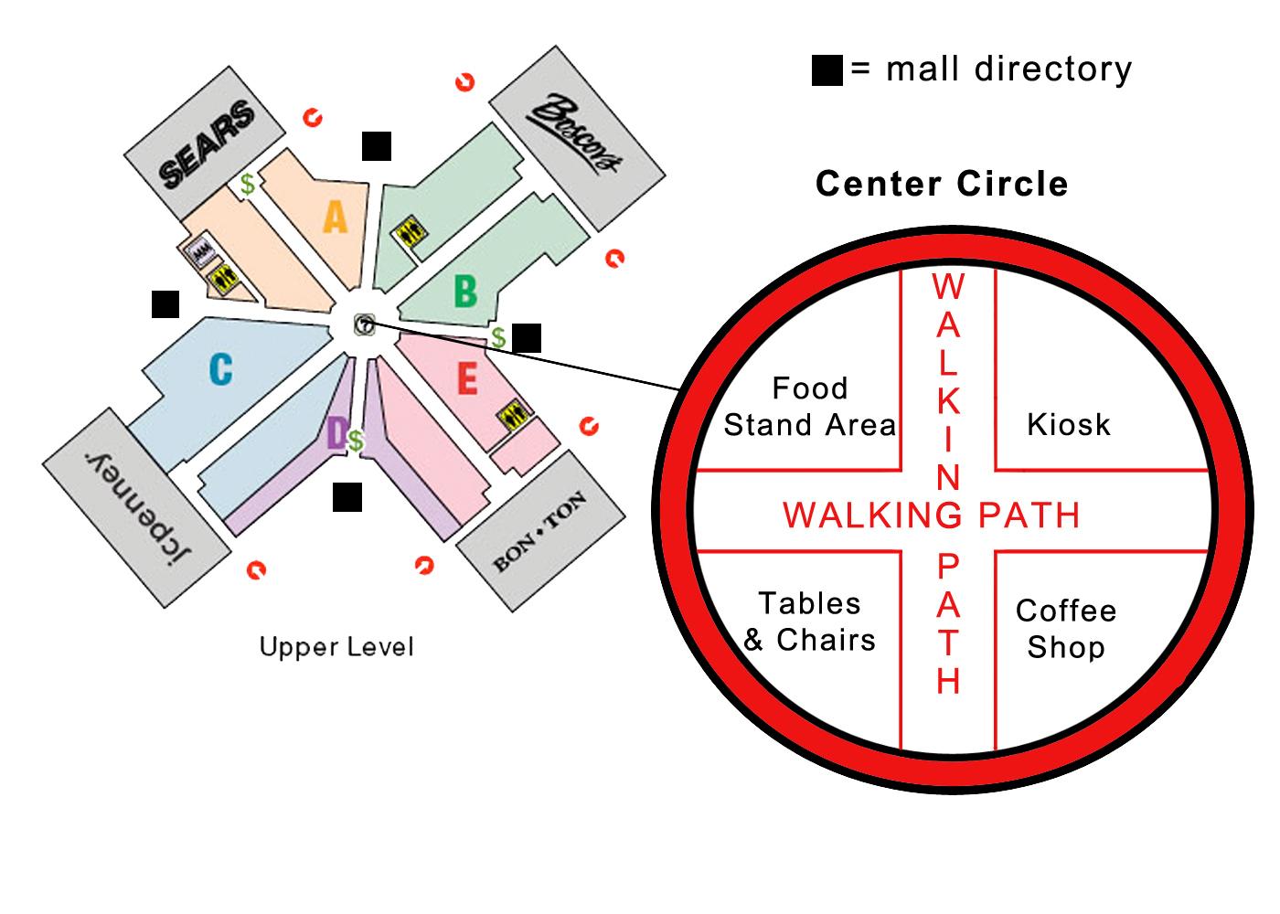 Park City Mall Map Information Design: Park City Center Mall Park City Mall Map