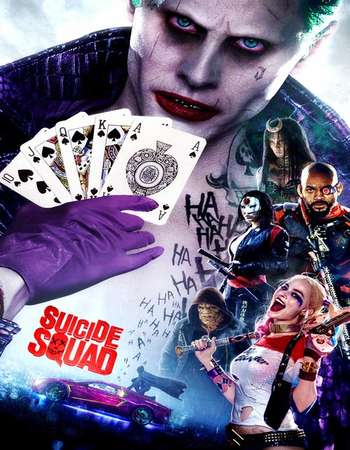 Poster Of Suicide Squad 2016 English 450MB HC HDRip 720p HEVC Free Download Watch Online Downloadhub.Net