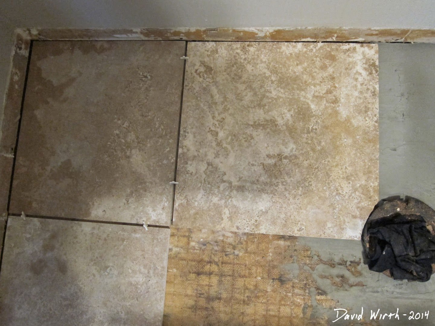 prefit tile spacers, how to layout