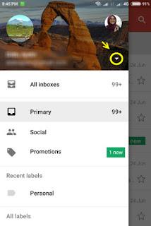 Cara ganti email di aplikasi email gmail android