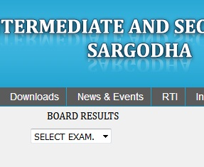 Check Matric Result 2018 Website of Sargodha Board for Matric Exam Result 2018