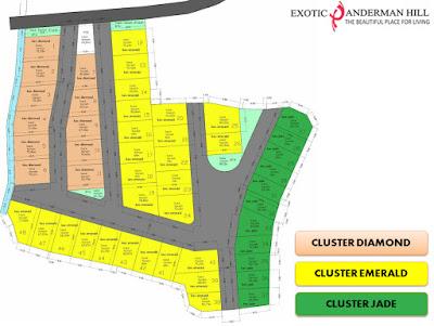 Masterplan Cluster Diamond di Exotic Panderman Hill - Rumah Villa di Batu Malang