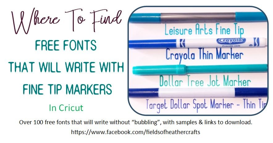 Free Fonts For Writing With Cricut With Fine Line Markers
