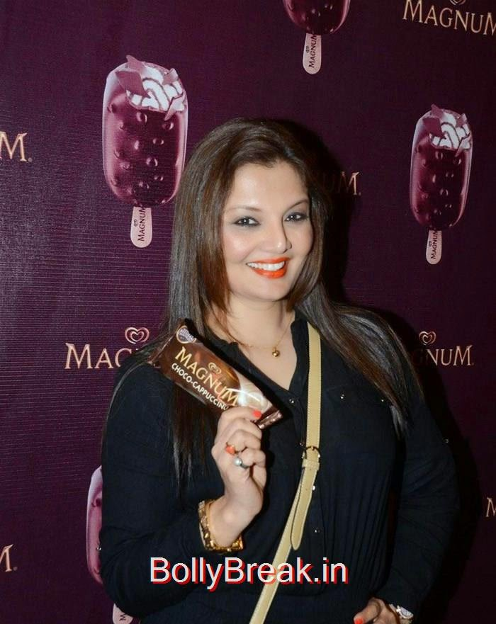 Magnum's Choco Cappuccino flavour Icecream Launch, Urvashi Rautela,Sana Khan, Soha Ali Khan, Magnum's Choco Cappuccino flavour Icecream Launch