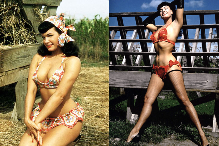 Bettie-Page-Pinup-Model-posing