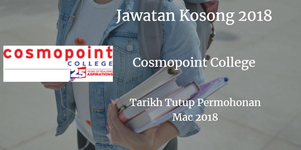 Jawatan Kosong Cosmopoint College Mac 2018