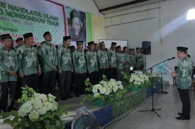 Suasana pelantikan Pengurus NU dan Pengurus Muslimah NU Kabupaten Boltim, masa khidmat 2015 - 2020.
