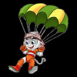 Logo dan Lambang Cabang Olahraga PON Jabar 2016 Terjun Payung