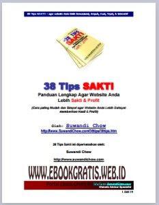 Ebook 38 Tips Sakti