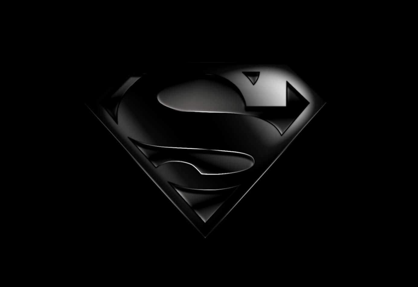 Superman Logo Wallpaper Black | Full HD Wallpapers