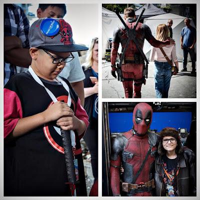 """מרגש: ילדים חולי סרטן זכו לבקר בסט הצילומים של """"דדפול 2"""", בסיור צמוד של ריאן ריינולדס"""