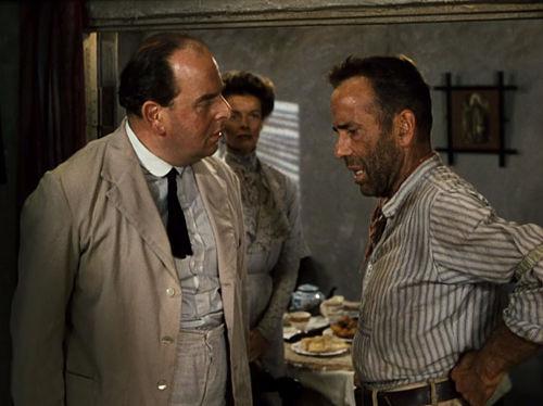 Robert Morley, Katharine Hepburn, Humphrey Bogart