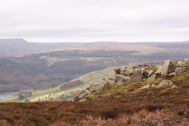 Walking in the Peak District near Ladybower reservoir