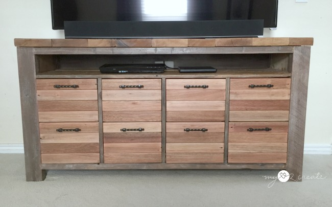 reclaimed wood furniture plans. reclaimed wood media console mylove2create furniture plans