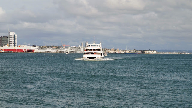 Ferry boat coming into the terminal in Devonport Auckland