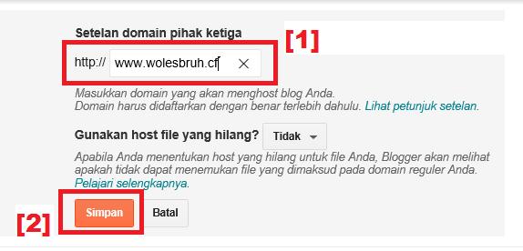 Cara Mengganti Nama Domain di Blog Gratis dengan Domain dari Freenom.com