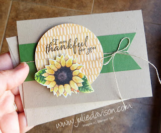 Stampin' Up! Painted Harvest Autumn Clean and Simple Notecard ~ www.juliedavison.com