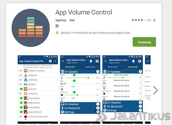 Install App App Volume Control