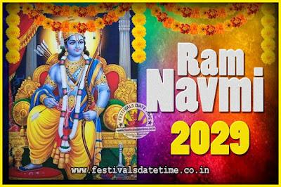 2029 Ram Navami Pooja Date & Time, 2029 Ram Navami Calendar