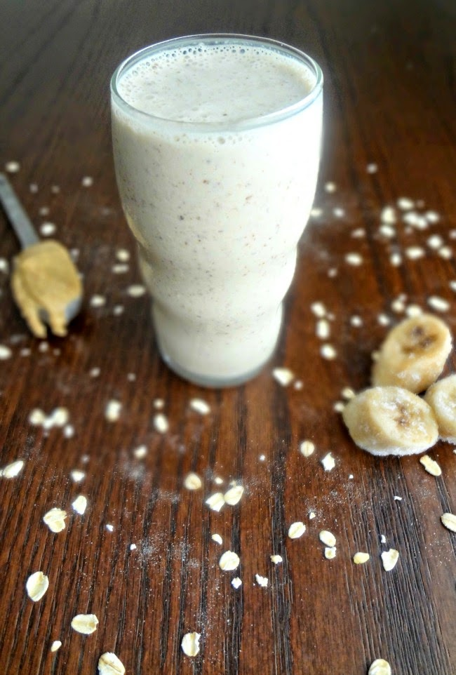 Nut Butter Banana Oat Smoothie