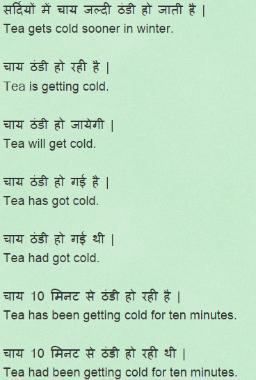 Example sentences of Get verb with Hindi translation for daily use
