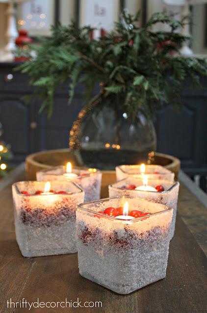 Epsom salt cranberry candles