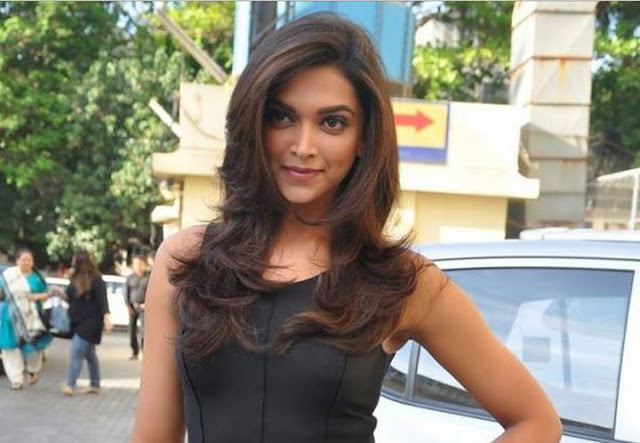 Deepika Padukone in Cute Black Mini-dress