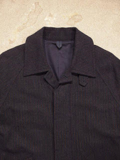 ts(s) Fly Front Raglan Sleeved Coat-Stitched Stripe Wool Cloth