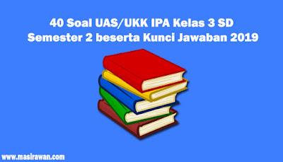 40 Soal UAS/UKK IPA Kelas 3 SD Semester 2 beserta Kunci Jawaban 2019