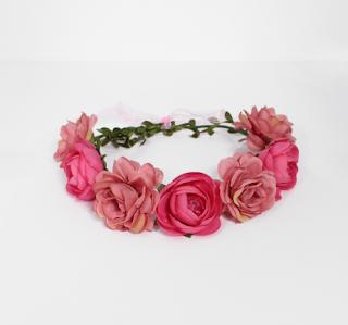 couronne de fleurs rose - adopt parfum