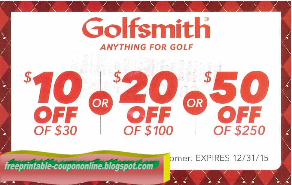 image about Golf Smith Printable Coupons known as Printable Discount coupons 2019: Golfsmith Coupon codes