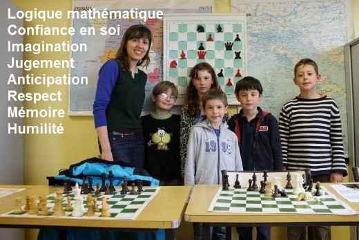 Tatiana Kostiuk et ses élèves du jeu d'échecs - Photo © Chess & Strategy