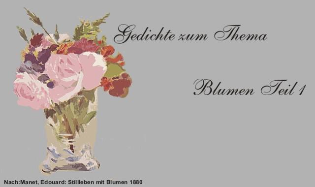 Blumen in Vase- Gedichte Blumen