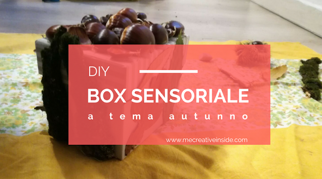 box sensoriale DIY tutorial giochi bambini lowcost autunno mecreativeinside sensorial box tutorial