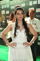 Meghana Gaur in a Deep Neck Sleeveless White Gown at IIFA Utsavam Awards 045.JPG