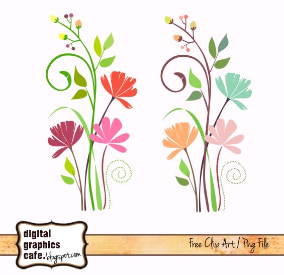 free scrapbook flower clipart - photo #43