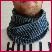 Cuello de hombre a crochet