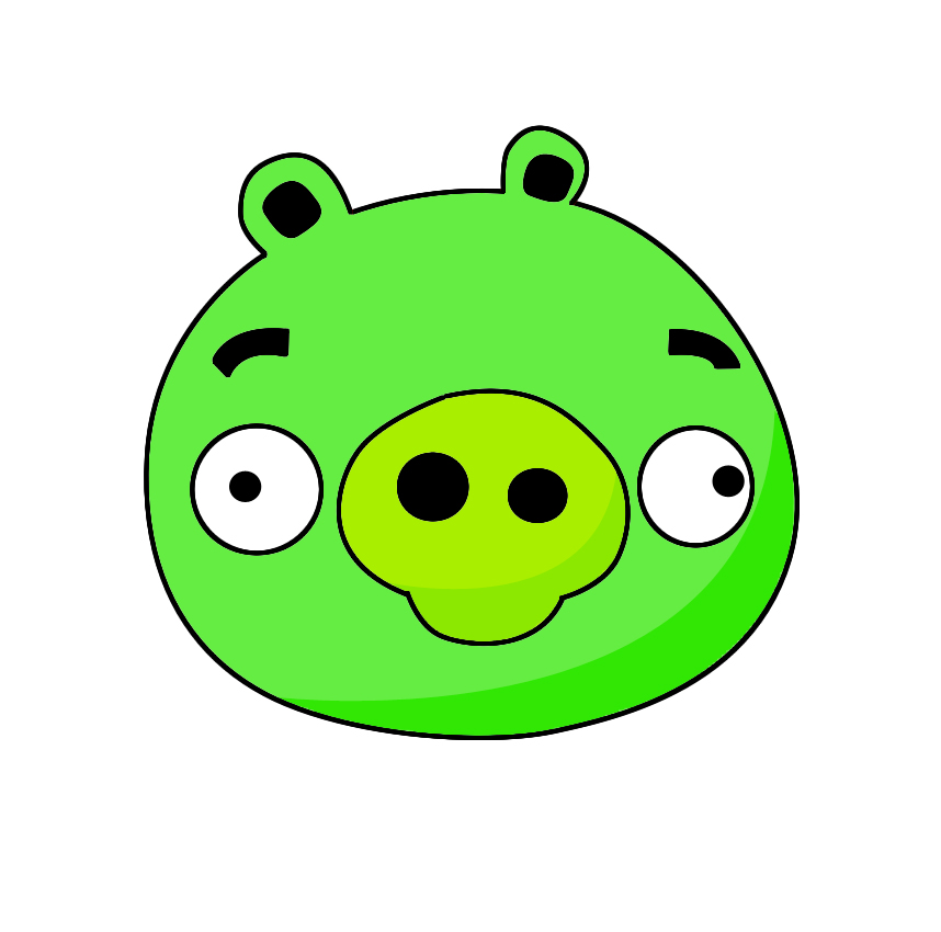 angry bird pig template how to draw angry birds pig draw central