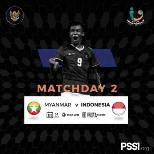 Jadwal Timnas Indonesia vs Myanmar - AFF U-16 Championship 2018