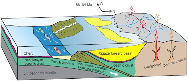 Upper Cretaceous trench deposits of the Neo-Tethyan subduction zone in Tibet