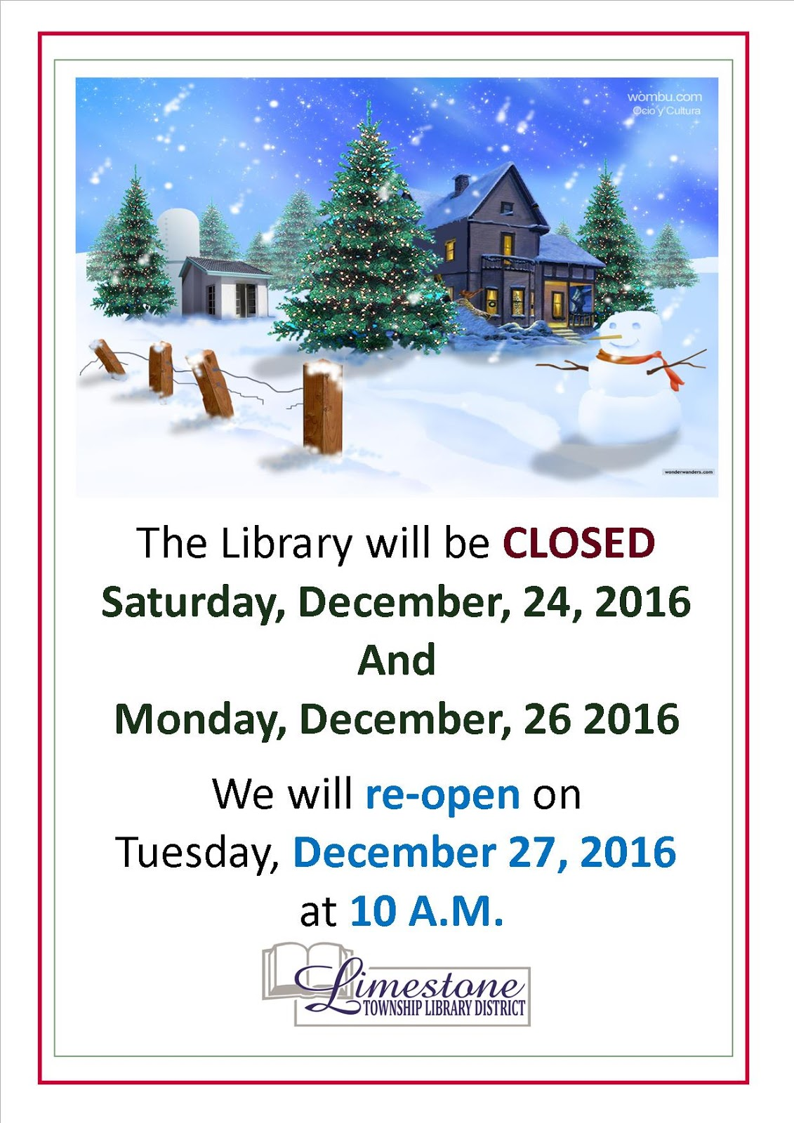 posted by limestone township library at 1135 am - Limestone Home 2016